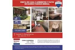VENTA 3 AMBIENTES Y PATIO BARRIO PARQUE BERNAL