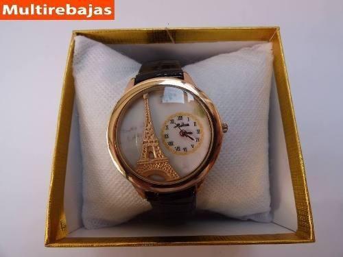 Fina Joya Femenina, Reloj Bonito Con Logo De La Torre Eiffel