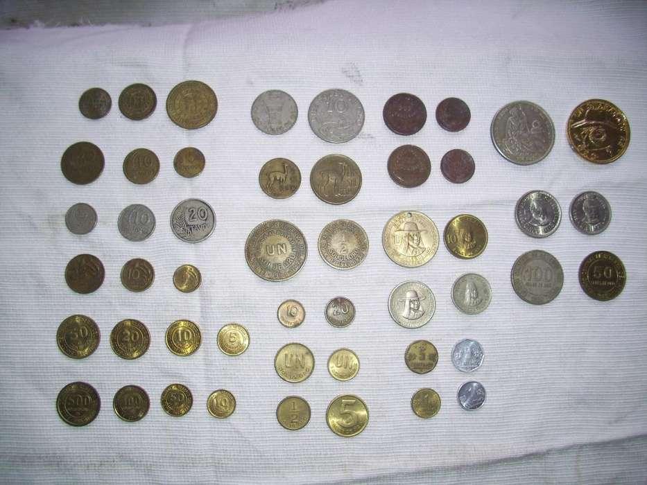 monedas variadas de coleccion de peru