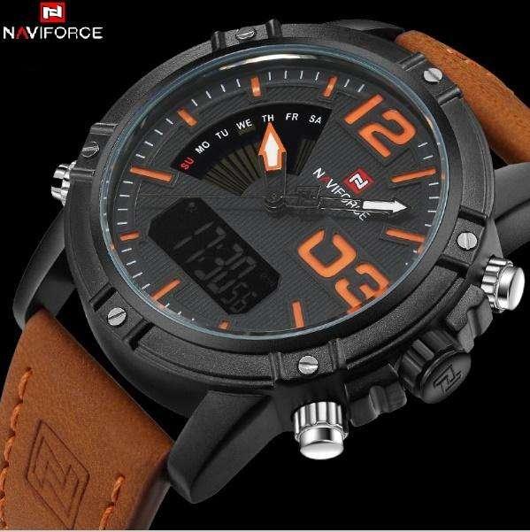 Reloj naviforce 9095 analogico digital cronometro alarma calendario