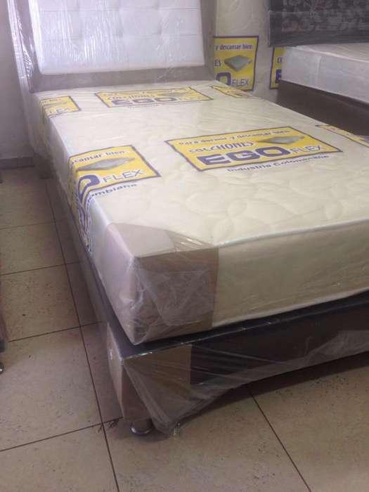 base <strong>cama</strong> con colchón excelente promoción