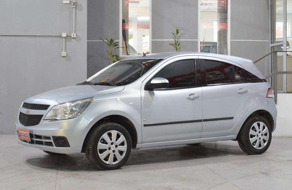 Chevrolet Agile lt 1.4 con gnc 2011 5 puertas color gris
