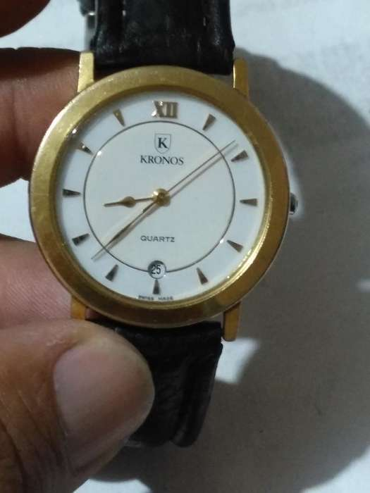 Reloj Kronos en Oro De10 Micras Suizo