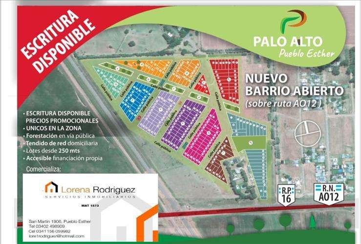 TERRENOS EN LOTEO PALO ALTO PUEBLO ESTHER