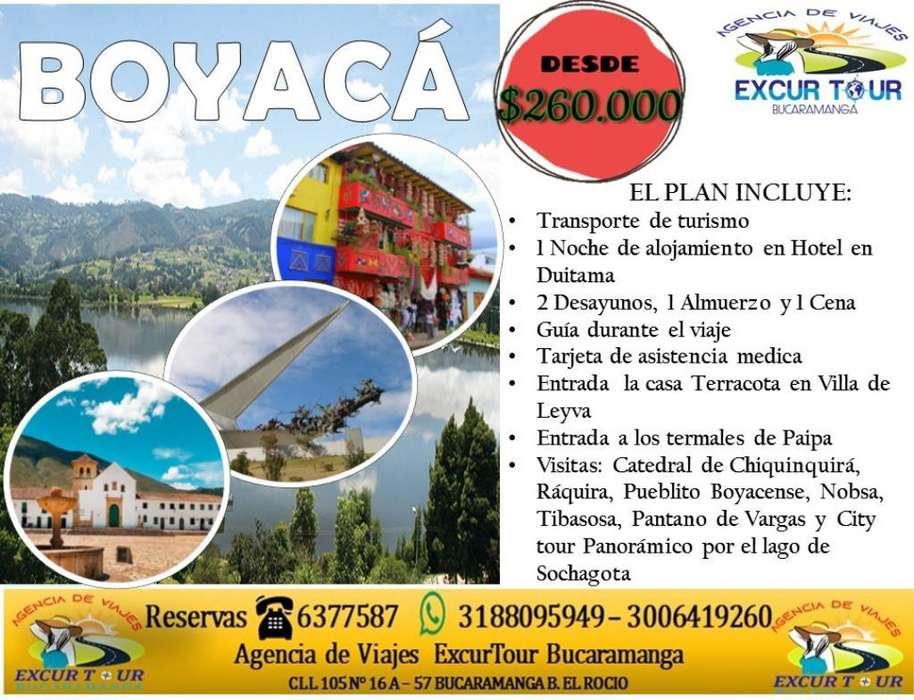 Tour Boyacá Salida de Bucaramanga