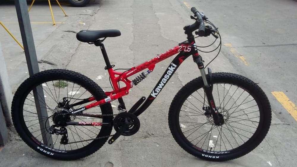 Kawasaki 275 doble roja negro