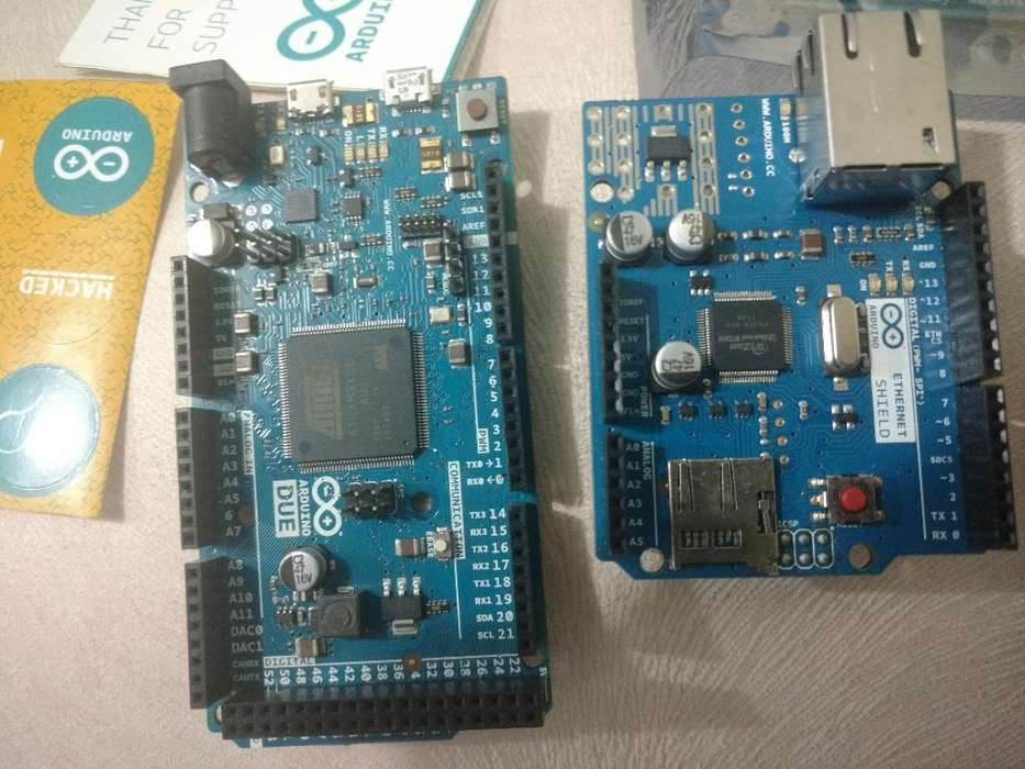 Arduino Due Arduino Ethernet Y Web con