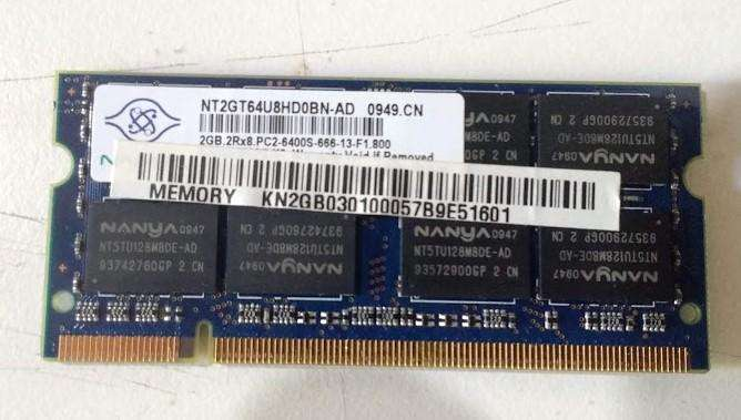<strong>memoria</strong> RAM DDR2 sodimm 2Gb