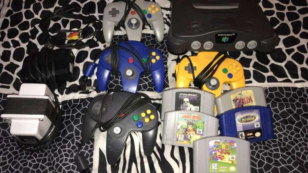 Nintendo 64 4 Mandos Y 5 Juegos