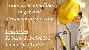 Trabajos de albañilería general- Zona Pilar