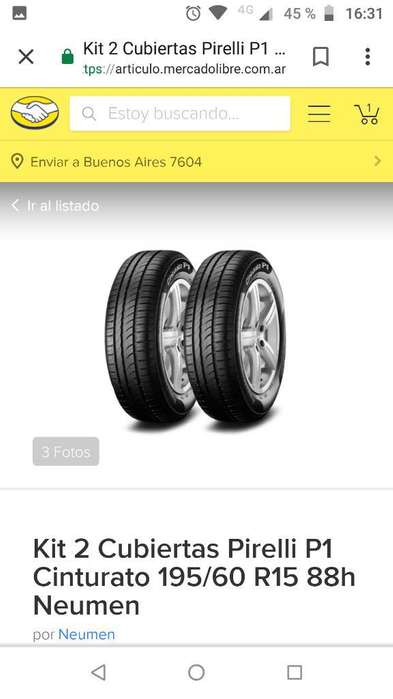 Vendo 4 Neumáticos sin Rodar 175.65.14