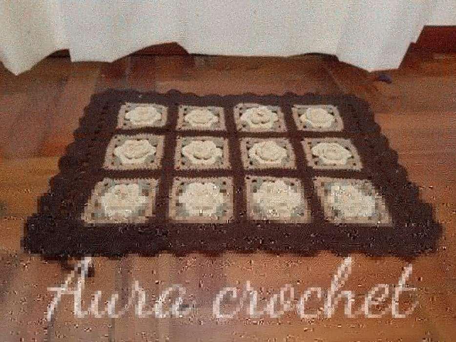 <strong>alfombra</strong> Crochet 100x100 Algodón