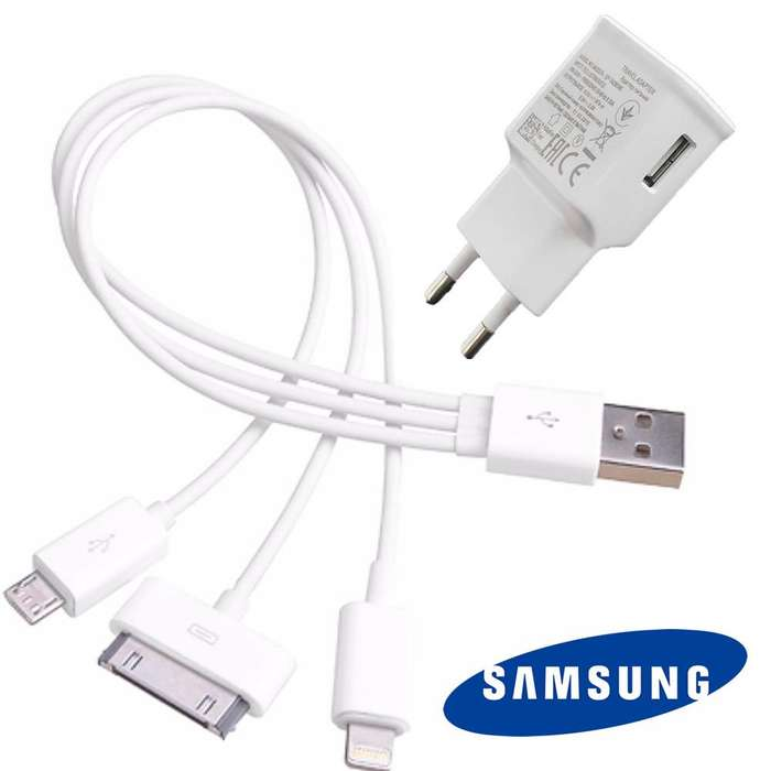 Cargador Samsung 2a Y Cable Usb 3en 1 tipo pulpo