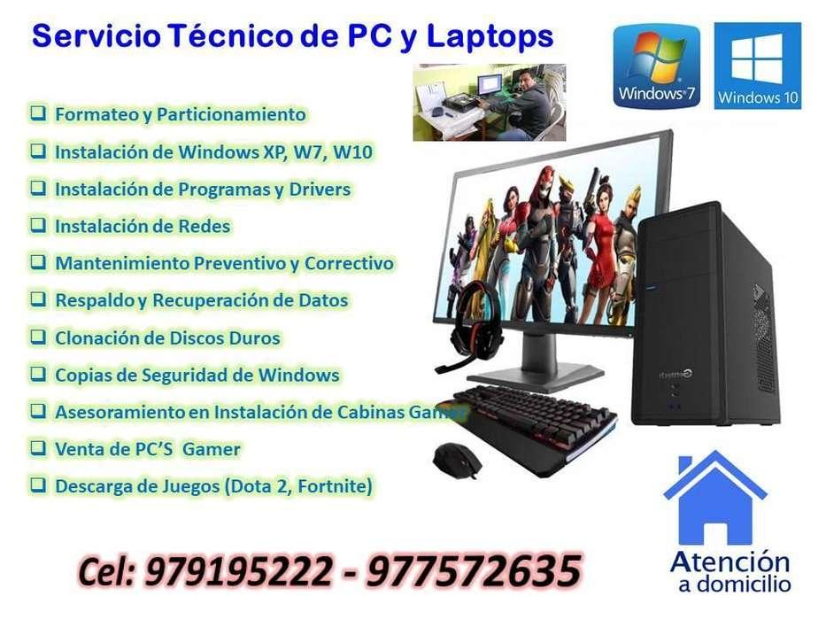 Servicio de Soporte Tecnico Pc's y Laptops R&G