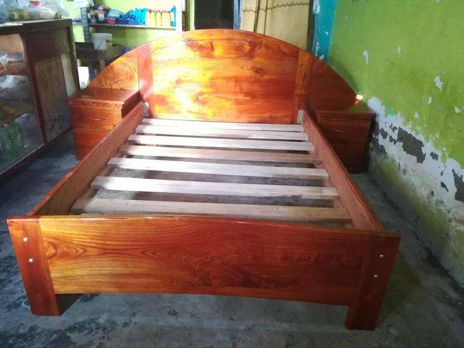 Vendo cama 2plz dos veladores de puro cedro Telfono 922197875