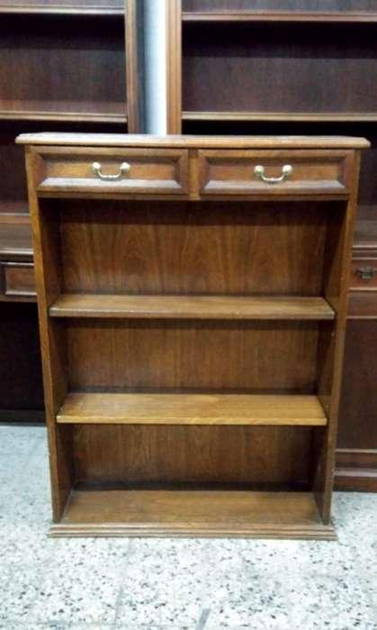 * Elegante Biblioteca Inglesa Con Dos Cajones Repisa
