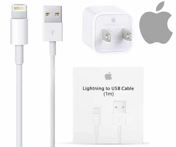d7613135f33 CARGADOR ORIGINAL Cable LIGHTNING cubo Iphone Original Apple 5 5s se 6 6s 7  8 X