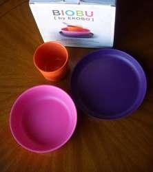 iobu By Ekobo - Kit De Tres Piezas: 2 Bowls  Vasito BAMBOO