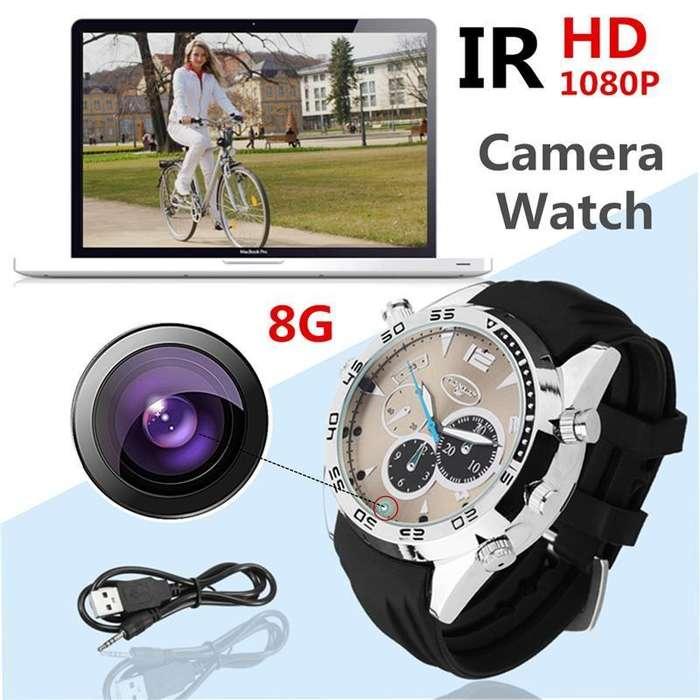 Reloj con cámara digital infrarroja HD 1080 P.