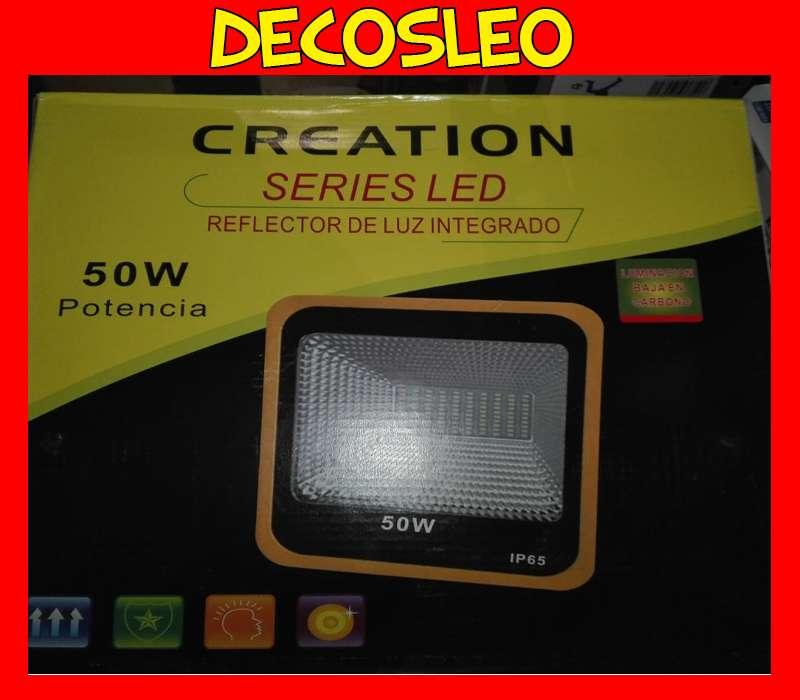 Reflector Led Blanco 50w multi led ** NO ES PASTILLA ** Bajo Consumo Alta Potencia Exterior