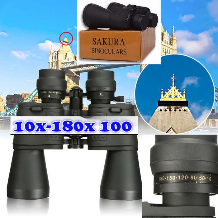 binocular sakura 10 X 180X100 POTENTE HD NUEVO