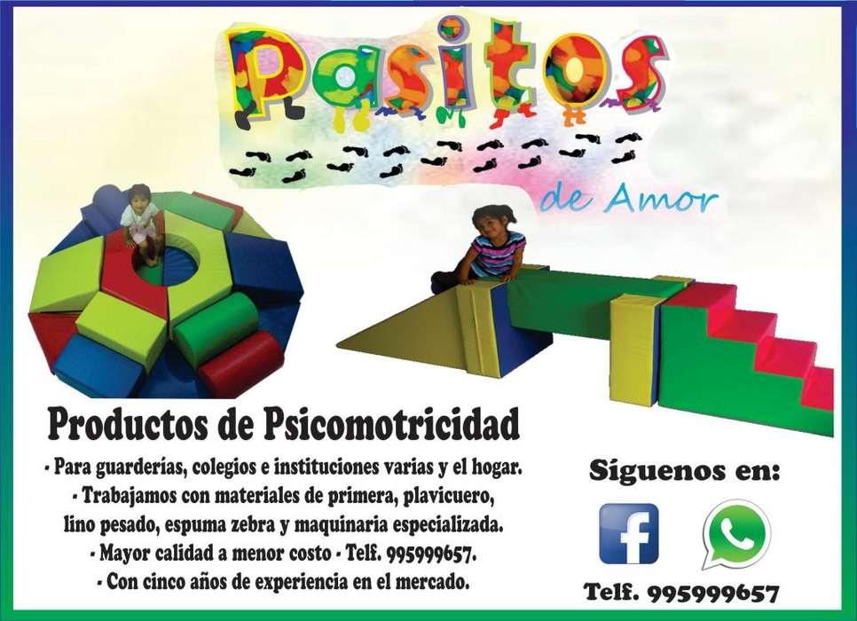 Fabricamos circuitos de psicomotricidad, gimnasia y rehabilitación. Pasitos de Amor 995999657