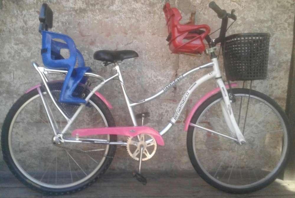 Bicicleta de Dama rod26 cdonde sillita