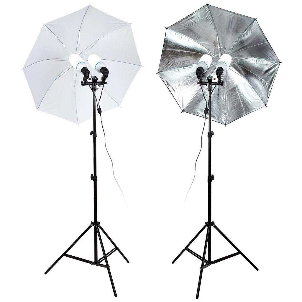 kit de iluminación para fotografía, tattoo o web cam CON BOMBILLAS