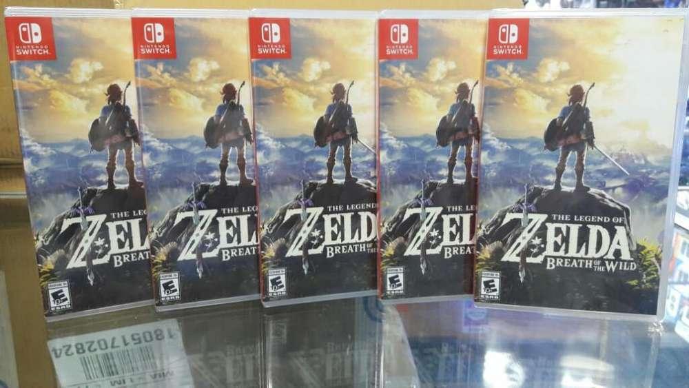 The Legend Of Zelda Breath Of The Wild Nintendo Switch Nuevo y Sellado Stock