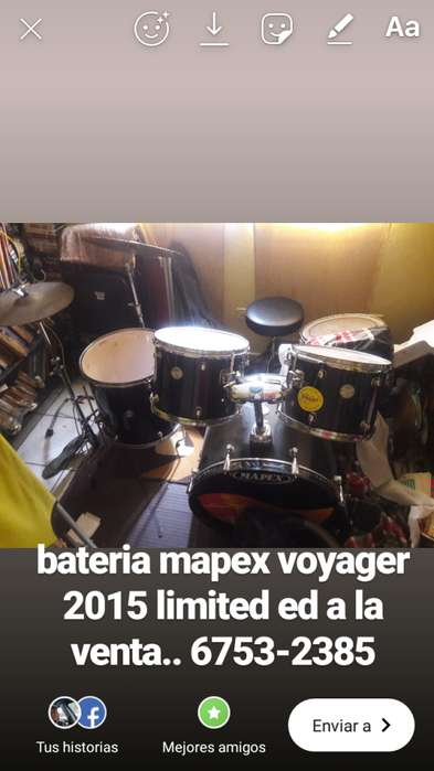 bateria mapex voyager limited ed negra