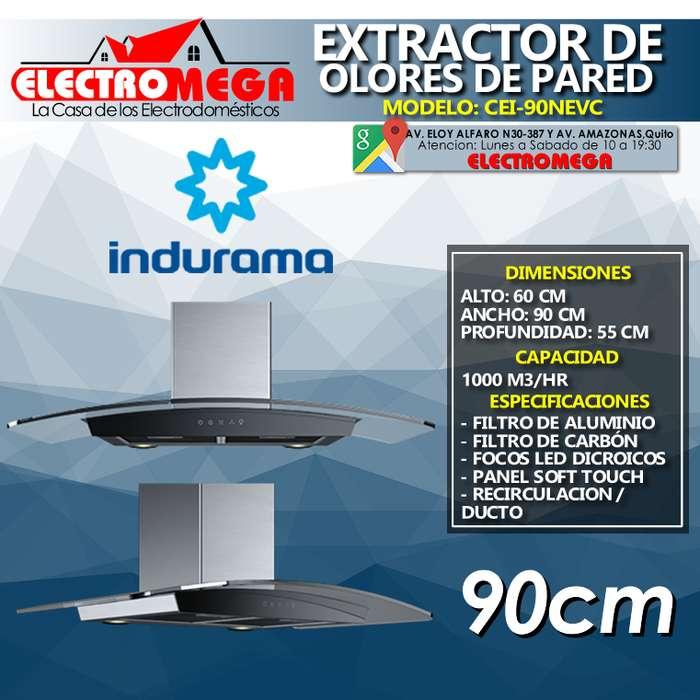 Campana <strong>extractor</strong> De Olores 90cm Indurama De Pared