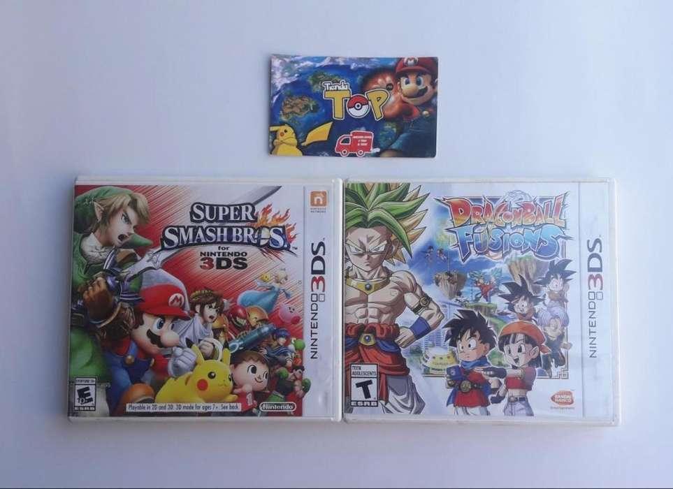 NINTENDO 3DS, SUPER SMASH BROS , DRAGON BALL , TIENDATOPMK