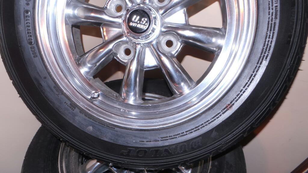 NUEVOS AROS US STEEL Aluminum Wheels Llantas Dunlop