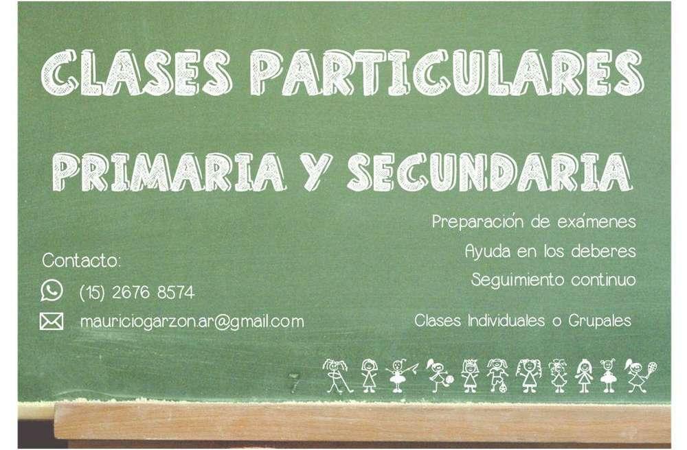 APOYO ESCOLAR, SEGUIMIENTO Y CLASES PARTICULARES