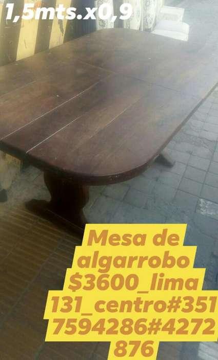 Mesa de Algarrobo Macizo3600_lima 131