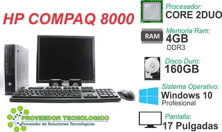 COMPUTADOR HP COMPAQ 8000 CORE 2DUO RAM 4GB DISCO 160GB PANTALLA 17