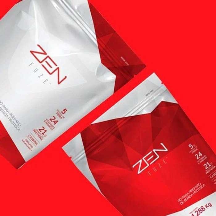 Zen Fuse Chocolate Y Vainilla Suplemento Proteinas Fibras