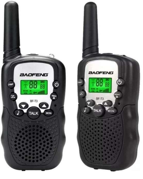 2 Radios Baofeng Bf T3 Uhf Largo Alcance Lcd Entrega Inmedia