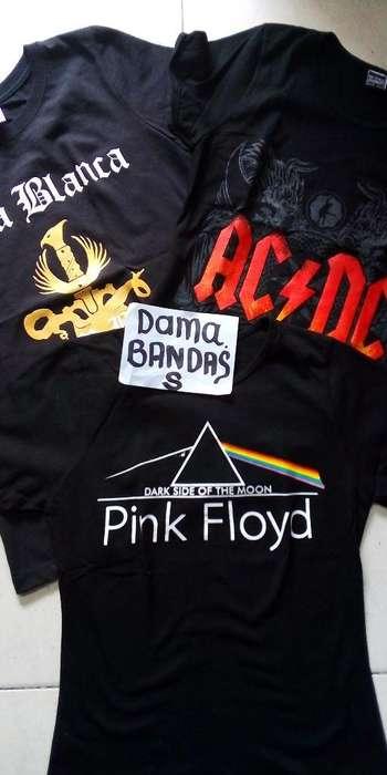 Camisetas Bandas Rock Dama Y Caballero