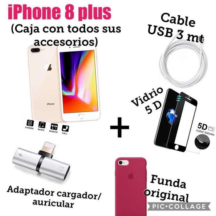 iPhone 8 Plus Nuevo dorado acc