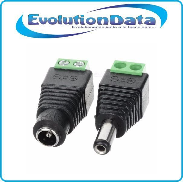 Conector Plug 12V DC Jack Corriente Macho y Hembra Camaras Seguridad CCTV