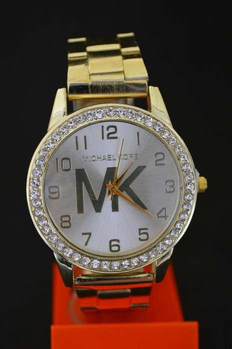 Reloj De Metal Mk Dorado Y Plata Gruponatic San Miguel Surquillo Independencia La Molina 941439370