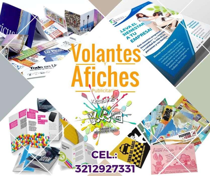 Impresión y diseño de Volantes, Afiches, tarjetas y más