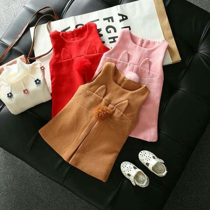 Vestido Niña Rosa- Ropa Importada