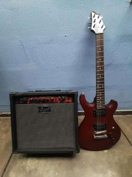 Remate de Guitarra Mas Amplificador Cort