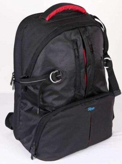 Mochila de Camara Reflex Canon Nikon Sony Y Laptop Notebook c/ Covertor de lluvia