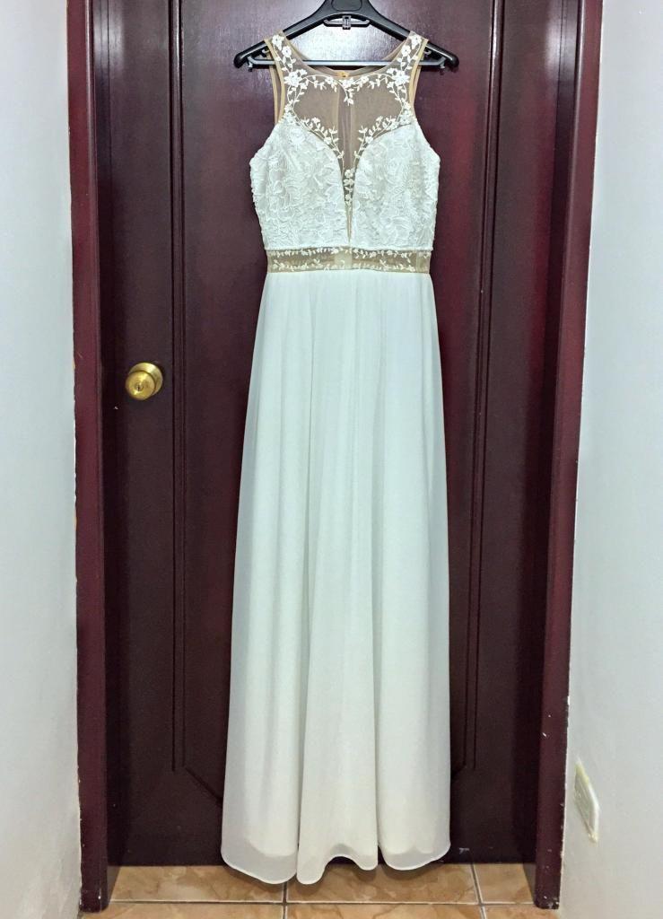 último 50% rebajado mayor selección Vestido Blanco para gala graduacin o boda civil - Quito