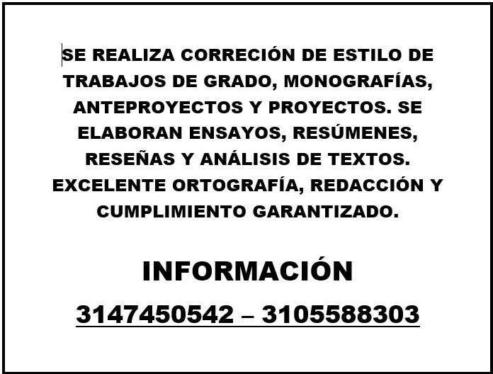 SERVICIO DE TRABAJOS ESCRITOS Y CORRECCIÓN DE ESTILO