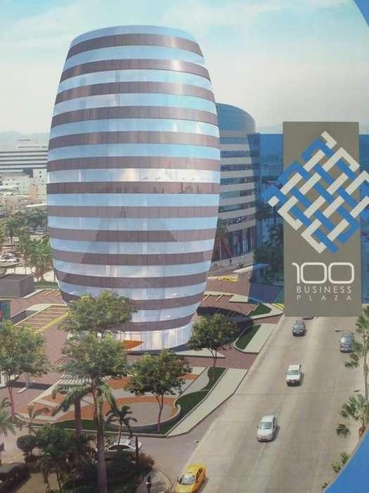 Venta de <strong>oficina</strong> en el Edificio 100 Business Plaza, frente al C.C. Mall del Sol, norte de Guayaquil