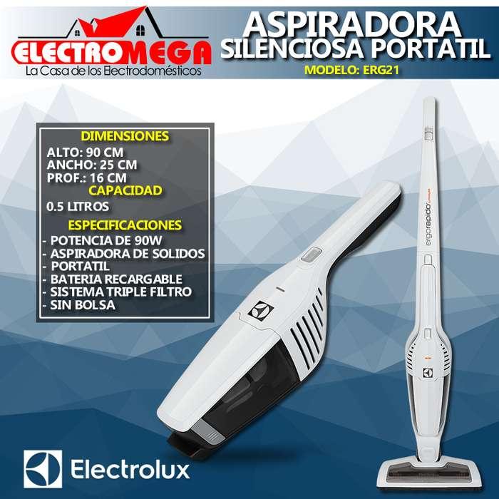Aspiradora Electrolux 2 En 1 Portatil 90w Con Bateria Erg21